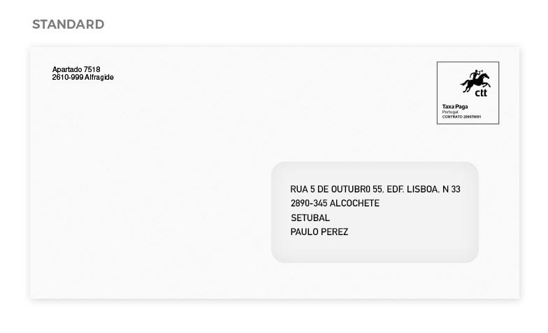 Envelopes standard Correio Hibrido Portugal